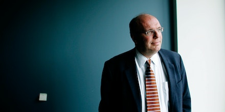 David Wurmser, former neocon adviser to Dick Cheney on Middle Eastern affairs, at his office in Washington D.C. (Photo by David Howells/Corbis via Getty Images)