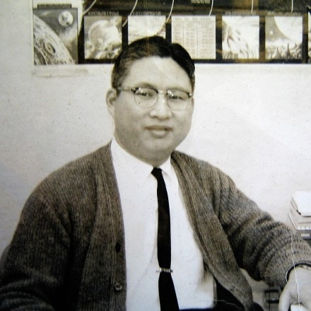 Harry Sheng, a former mechanical engineer for Sparton Corporation, photographed in the 1960s.
