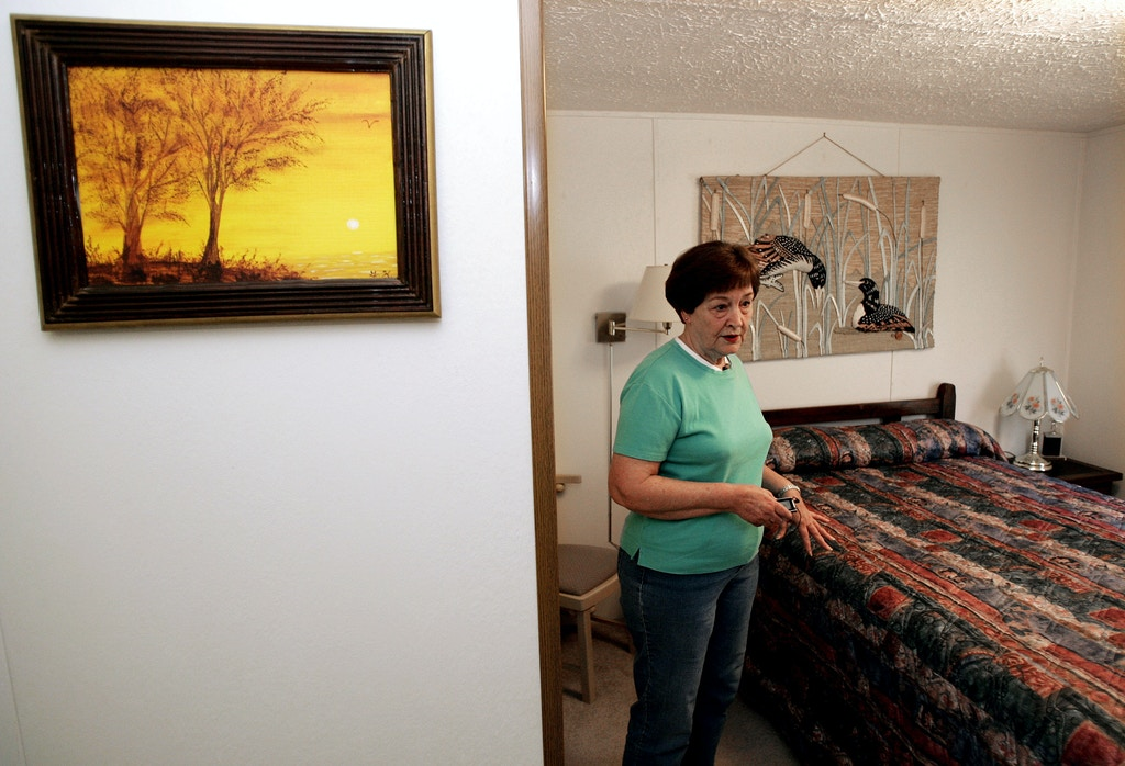 A painting done by Paul House when he was a boy hangs on the wall as his mother, Joyce House, shows the bedroom she has prepared for Paul's return to her home in Crossville, Tenn., on April 21, 2008. Multiple sclerosis has Paul House in a wheelchair. A tenacious prosecutor has him on death row, deemed too dangerous to be released two years after the Supreme Court said he likely isn't guilty. That closely watched ruling, which made it easier for inmates to get new hearings on DNA evidence that emerges after their trials, and the fallout from it have left House in limbo while a prosecutor methodically battles every effort from the courts to have him retried. U.S. District Judge Harry S. Mattice Jr. has scheduled a hearing for Wednesday May 28, 2008 to consider terms and conditions of House's release, but prosecutors are taking their time about setting a date for a new trial. (AP Photo/Mark Humphrey)