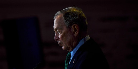 AURORA, CO - DECEMBER 05: Democratic presidential candidate, former New York City Mayor Michael Bloomberg speaks during an event to introduce his gun safety policy agenda at the Heritage Christian Center on December 5, 2019 in Aurora, Colorado. The event, which was closed to the public, was held with survivors of gun violence and community leaders from across Colorado. (Photo by Michael Ciaglo/Getty Images)