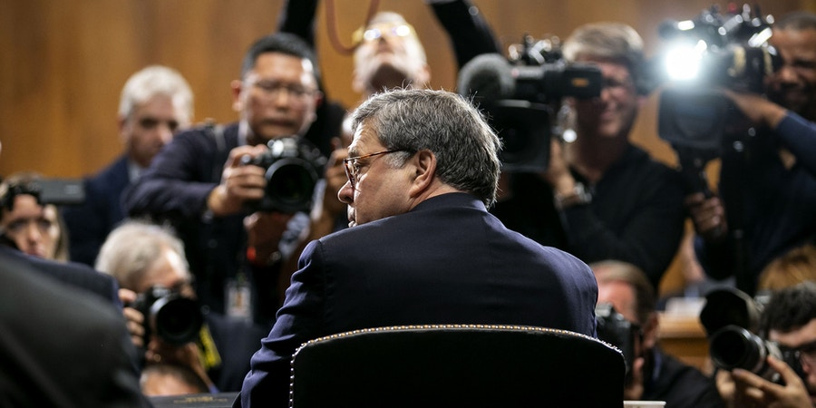 FILE: William Barr, U.S. attorney general, arrives for a Senate Judiciary Committee hearing in Washington, D.C., U.S., on Wednesday, May 1, 2019. Monday, January 20, 2020, marks the third anniversary of U.S. President Donald Trump's inauguration. Our editors select the best archive images looking back over Trumps term in office. Photographer: Al Drago/Bloomberg via Getty Images