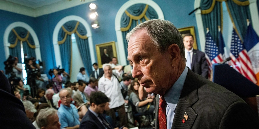 NEW YORK, NY - AUGUST 12:  New York City Mayor Michael Bloomberg leaves a press conference after addressing New York Police Department's Stop-and-Frisk practice on August 12, 2013 in New York City. A federal court judge ruled that Stop-and-Frisk violates rights guaranteed to people and the Bloomberg administration has vowed to appeal the case.  (Photo by Andrew Burton/Getty Images)