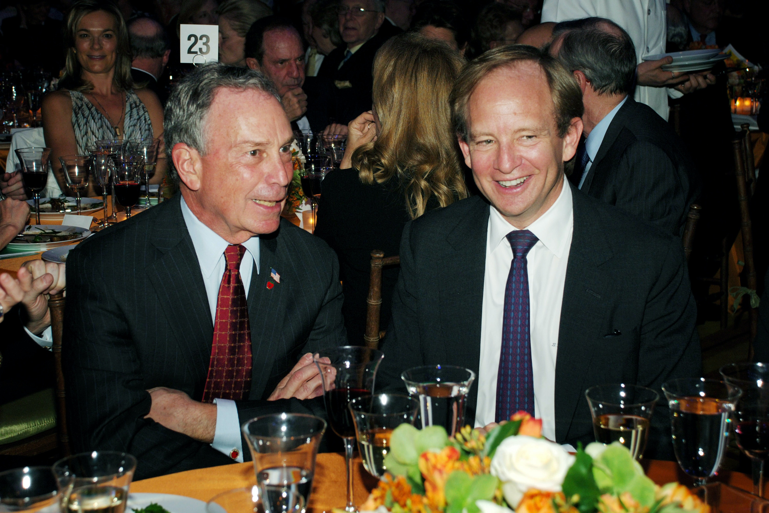 NEW YORK CITY, NY - APRIL 30: Mayor Michael Bloomberg and Steven Rattner attend THIRTEEN and WLIW 21 Annual Gala Salute at Gotham Hall on April 30, 2007 in New York City. (Photo by JOE SCHILDHORN/Patrick McMullan via Getty Images)