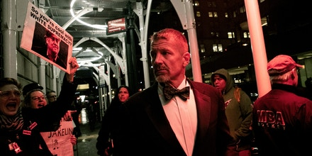Erik Prince arrives New York Young Republican Club Gala at The Yale Club of New York City in Manhattan in New York City, New York, U.S., November 7, 2019. REUTERS/Jeenah Moon - RC2R6D94WFCT