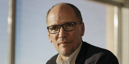 Tom Perez, chair of the Democratic National Committee, at his office in Washington, Dec. 11, 2019. Being a national chairman for the party that doesn't hold the White House is among the worst jobs in American politics: a high-profile position with little power, endless grief from fretting party regulars and nonstop comparisons to the president's party, which has the president himself as its chief fund-raiser. (Lexey Swall/The New York Times)
