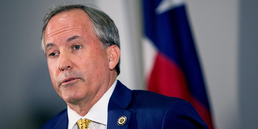 Texas Attorney General Ken Paxton speaks about a lawsuit he filed against the federal government to end DACA during a press conference in Austin, Texas, on Tuesday, May 1, 2018. Paxton is leading a seven-state coalition in the lawsuit. (Nick Wagner /Austin American-Statesman via AP)