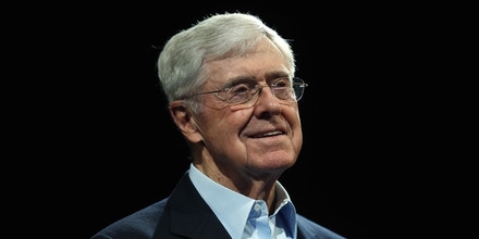 In this Saturday, June 29, 2019, file photograph, Charles Koch, chief executive officer of Koch Industries, is shown at The Broadmoor Resort in Colorado Springs, Colo. (AP Photo/David Zalubowski)