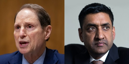 Sen. Ron Wyden, left, and Rep. Ro Khanna.