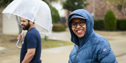 UNITED STATES - FEBRUARY 23: Candace Valenzuela, candidate in the Texas 24 Congressional District, knocks on doors in Irving, Texas on Sunday, Feb. 23, 2020. (Photo By Bill Clark/CQ-Roll Call, Inc via Getty Images)