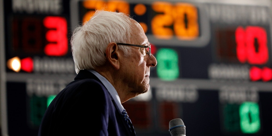 DEARBORN, MI - MARCH 07: Democratic presidential candidate Sen. Bernie Sanders (I-VT) speaks at a campaign rally at Salina Intermediate School on March 7, 2020 in Dearborn, Michigan. Sanders has said his competitor, former Vice President Joe Biden, could beat President Donald Trump in November, but added that he would be the stronger general-election candidate.  (Photo by Bill Pugliano/Getty Images)