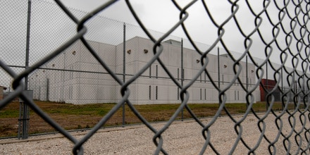 The perimieter fence of the T. Don Hutto Detention facility of the Immigration and Customs Enforcement (ICE) center for illegal immigrant families.  (Photo by Robert Daemmrich Photography Inc/Corbis via Getty Images)