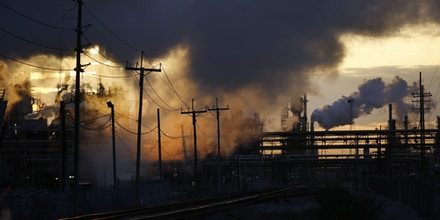 Emissions rise from the Royal Dutch Shell Plc Norco Refinery in Norco, Louisiana, U.S., on Friday, Feb. 9, 2018. U.S. refiners exported staggering amounts of diesel and gasoline last year, hitting records in both categories while continuing to eye more opportunities to expand. Photographer: Luke Sharrett/Bloomberg via Getty Images