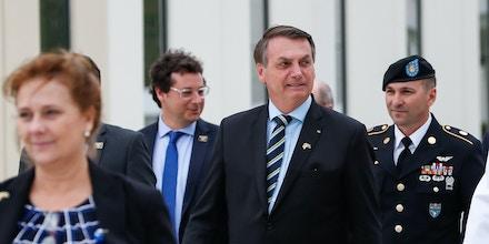 Fábio Wajngarten, segundo à esquerda, acompanhou Bolsonaro na viagem aos EUA. Ambos encontraram Trump. O secretário teve doença do coronavírus confirmada. Foto: Alan Santos/PR