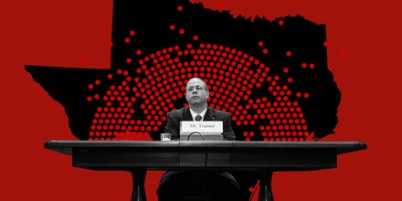 Trey Trainor testifies before the Senate Rules and Administration Committee for a confirmation hearing to be a member of the Federal Election Commission in Washington on Tuesday, March 10, 2020.
