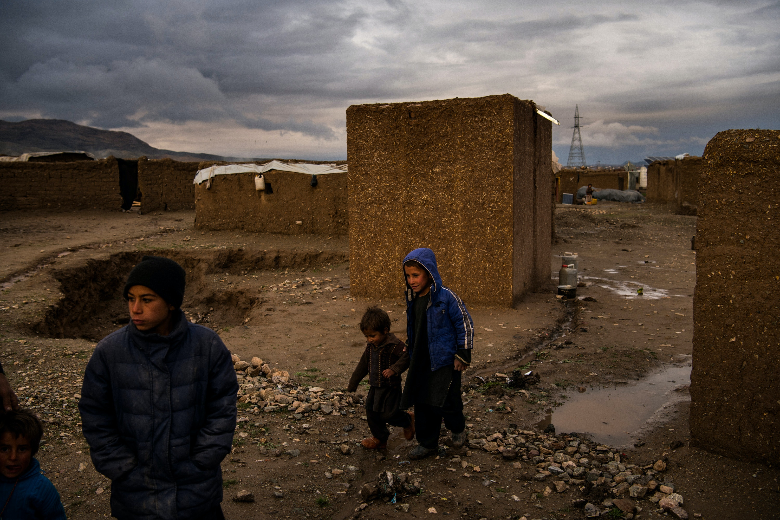 The Shahrak-e Sabz informal settlement, home to more than 10,000 families, mostly from Badghis Province to the north, who settled and built basic homes after fleeing fighting and drought in 2018. People like the displaced families living in Sahahrak-e Sabz are thought to be most at risk during the spread of the coronavirus in Afghanistan. Shahrak-e Sabz, is on the outskirts of Herat City, which is the current epicentre of the coronavirus outbreak in Afghanistan, with more than 50% of all of the country's positive cases. On this day, the country had an official count of 71 positive coronavirus cases.