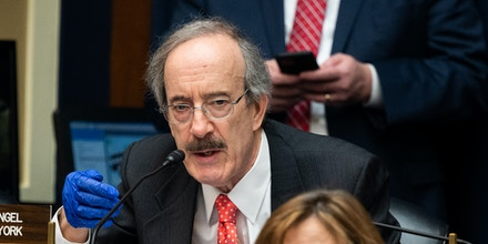 WASHINGTON, UNITED STATES - MAY 14, 2020: U.S. Representative Eliot Engel (D-NY) speaks at the House Committee on Energy and Commerce Subcommittee on Health hearing on