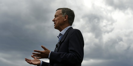 DENVER, CO - AUGUST 4:  Former Colorado Governor John Hickenlooper speaks to members of the media in front of the state Capitol about the recent mass shootings on August 4, 2019 in Denver, Colorado.Two mass shootings occurred in less than than 24 hours over the weekend leaving many in shock. A total of 20 died in the El Paso shooting, followed by nine killed in Dayton, Ohio less than 24 hours later. Hickenlooper is running for President in 2020. (Photo by Helen H. Richardson/MediaNews Group/The Denver Post via Getty Images)