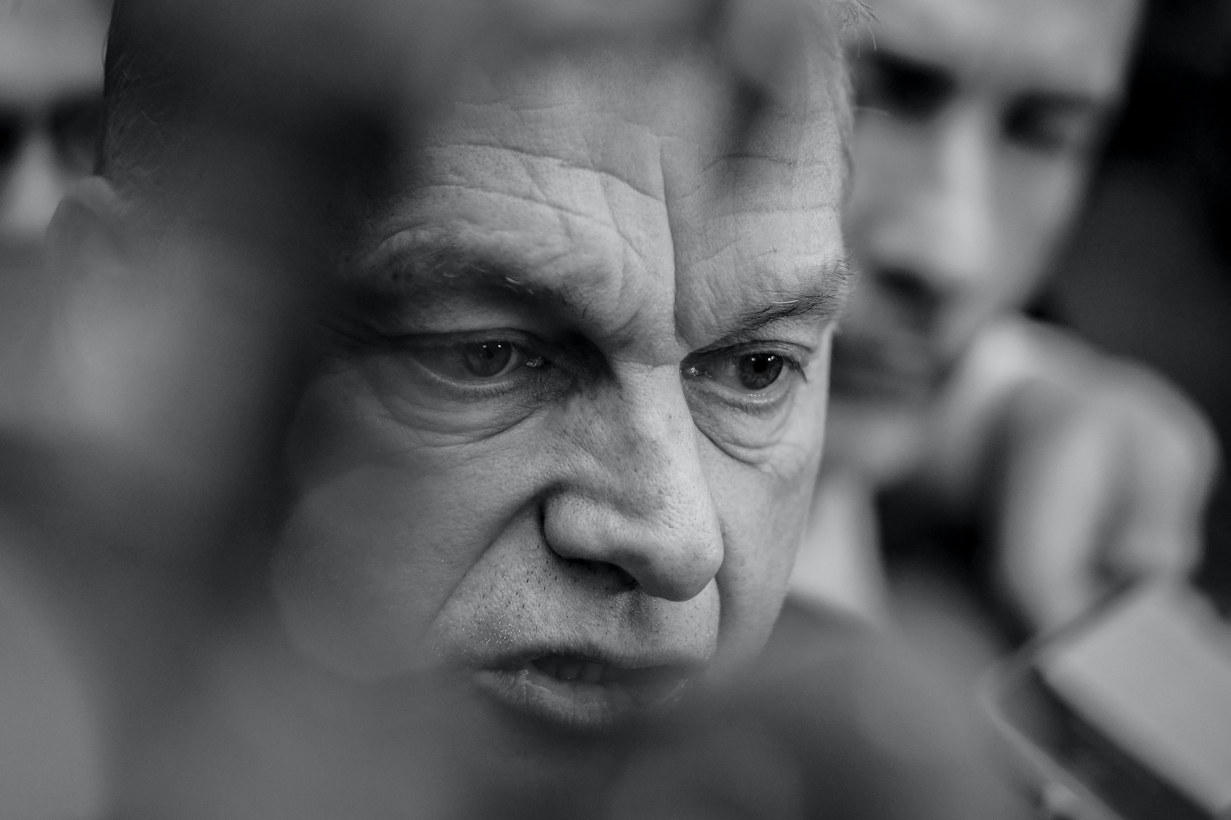 (EDITOR'S NOTE: Image was converted to black and white) Prime Minister of Hungary Viktor Orban in Brussels, Belgium, on February 21, 2020 (Photo by Riccardo Pareggiani/NurPhoto via Getty Images)