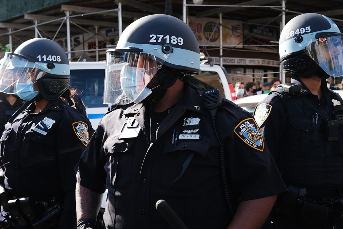 NYPD Officers at George Floyd Protests Are Covering Their Badge Numbers in Violation of Own Policy