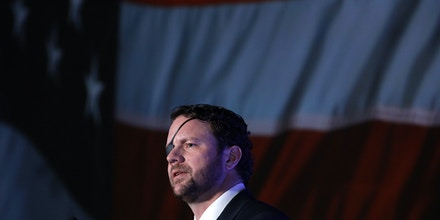 U.S. Rep. Dan Crenshaw speaks during the CPAC Direct Action Training at the annual Conservative Political Action Conferenc