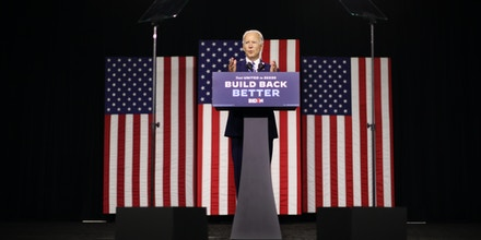 Democratic presidential candidate former Vice President Joe Biden speaks at the Chase Center July 14, 2020 in Wilmington, Delaware.