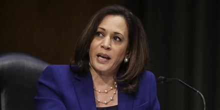 WASHINGTON, DC - JUNE 16: U.S. Sen. Kamala Harris (D-CA) speaks during a Senate Judiciary Committee hearing to examine issues involving race and policing practices in the aftermath of the death in Minneapolis police custody of George Floyd and the civil unrest that followed, on Capitol Hill on June 16, 2020 in Washington, DC. (Photo by Jonathan Ernst-Pool/Getty Images)