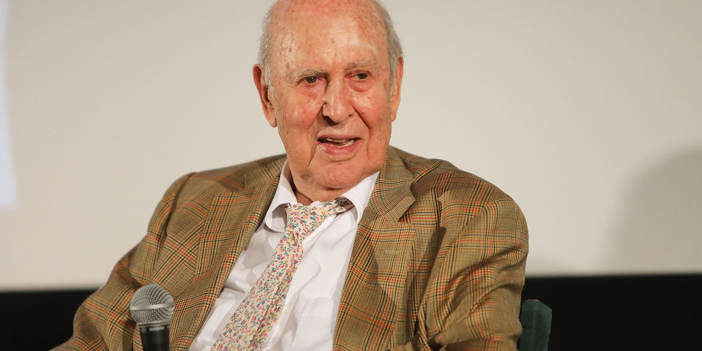 """SANTA MONICA, CA - AUGUST 03:  Carl Reiner attend the special screening and Q&A """"Rose Marie: Wait for Your Laugh"""" at Aero Theatre on August 3, 2017 in Santa Monica, California.  (Photo by John Wolfsohn/Getty Images)"""