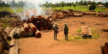 Militares do Exército durante Operação Verde Brasil, realizada em Rondônia.
