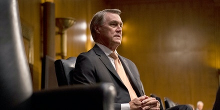 WASHINGTON, DC - JUNE 18:  U.S. Sen. David Perdue (R-GA) attends a hearing of the Senate Foreign Relations Committee on June 18, 2020 in Washington, DC. The committee is exploring future global preparedness in the midst of the ongoing global pandemic.  (Photo by Caroline Brehman-Pool/Getty Images)