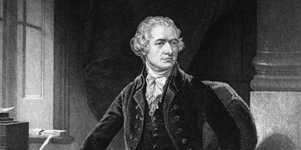 American statesman Alexander Hamilton (1757 - 1804), principal author of 'The Federalist' collection of writings.