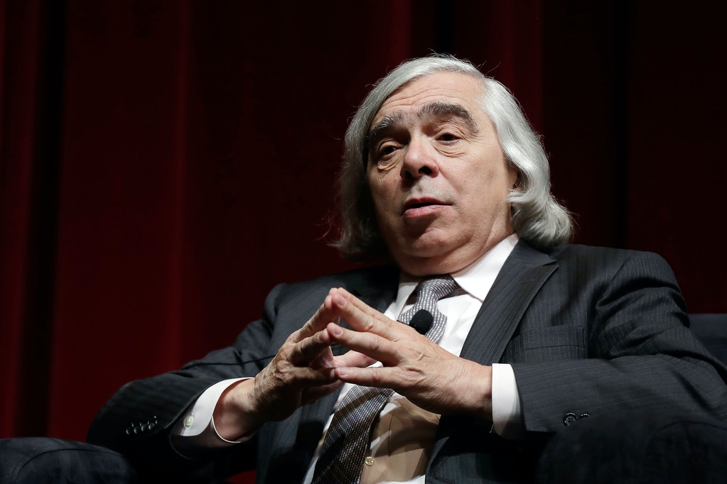 Former U.S. Sec. of Energy Ernest Moniz speaks during the National Clean Energy Summit 9.0 on October 13, 2017 in Las Vegas, Nevada.