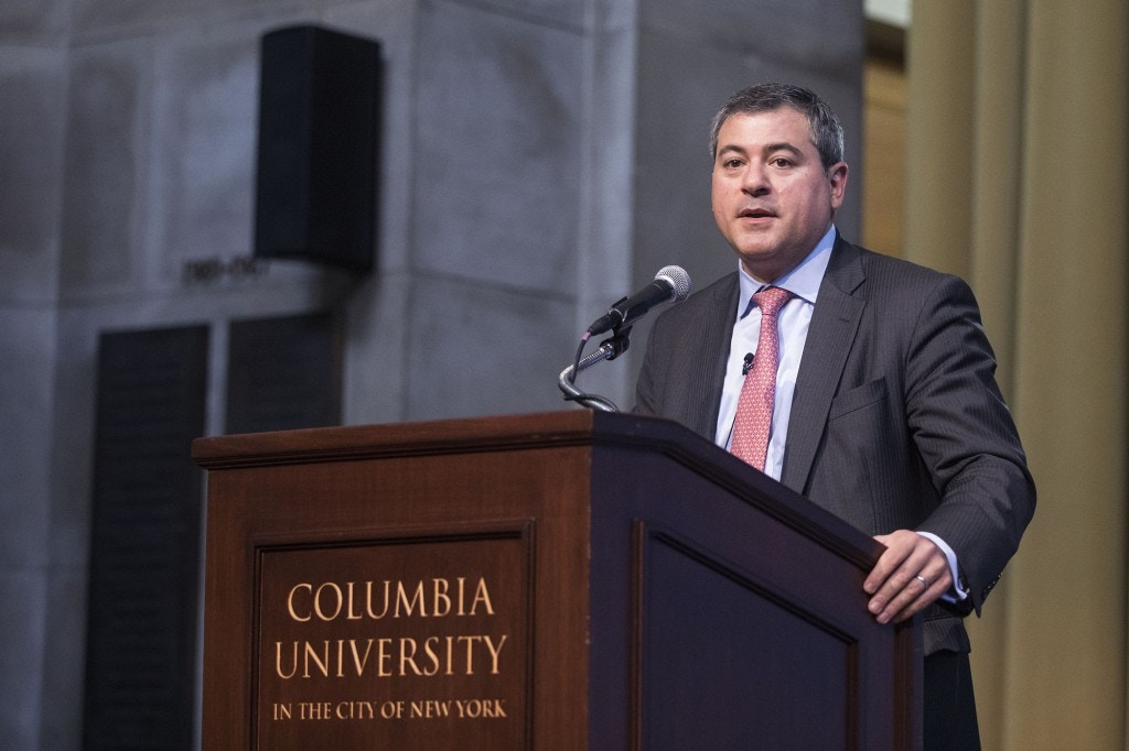 Jason Bordoff, Professor of Professional Practice at Columbia University and Director of the Center on Global Energy Policy during the 2018 Columbia Global Energy Summit in New York, on April 19, 2018.