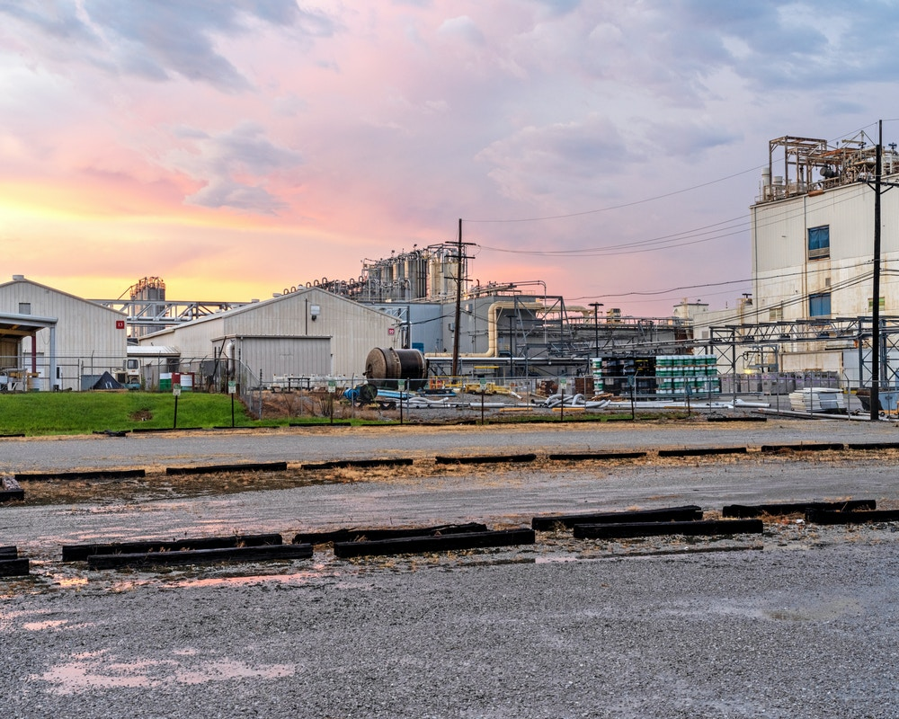 DECATUR, AL - August 19, 2020: A portion of the 3M plant in Decatur. CREDIT: Johnathon Kelso for The Intercept.