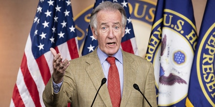 July 24, 2020 - Washington, DC, United States: U.S. Representative Richard Neal (D-MA) speaking at a press conference about the extension of federal unemployment benefits. (Photo by Michael Brochstein/Sipa USA)(Sipa via AP Images)