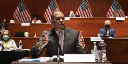 Representative Hakeem Jeffries, a Democrat from New York, speaks during a House Judiciary Committee markup on H.R. 7120, the