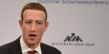 Facebook CEO Mark Zuckerberg speaks on the second day of the Munich Security Conference in Munich, Germany, on Feb. 15, 2020.