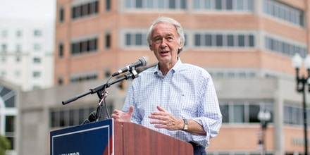 Senator Ed Markey, a Democrat from Massachusetts, speaks during a campaign event in Quincy, Massachusetts, U.S., on Thursday, Aug. 27, 2020.