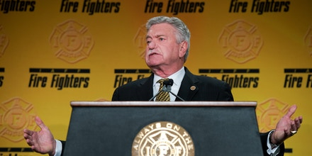 Harold Schaitberger, General President of the International Association of Fire Fighters, speaks during the IAFF's Legislative Conference General Session at the Hyatt Regency on Capitol Hill, March 9, 2015.