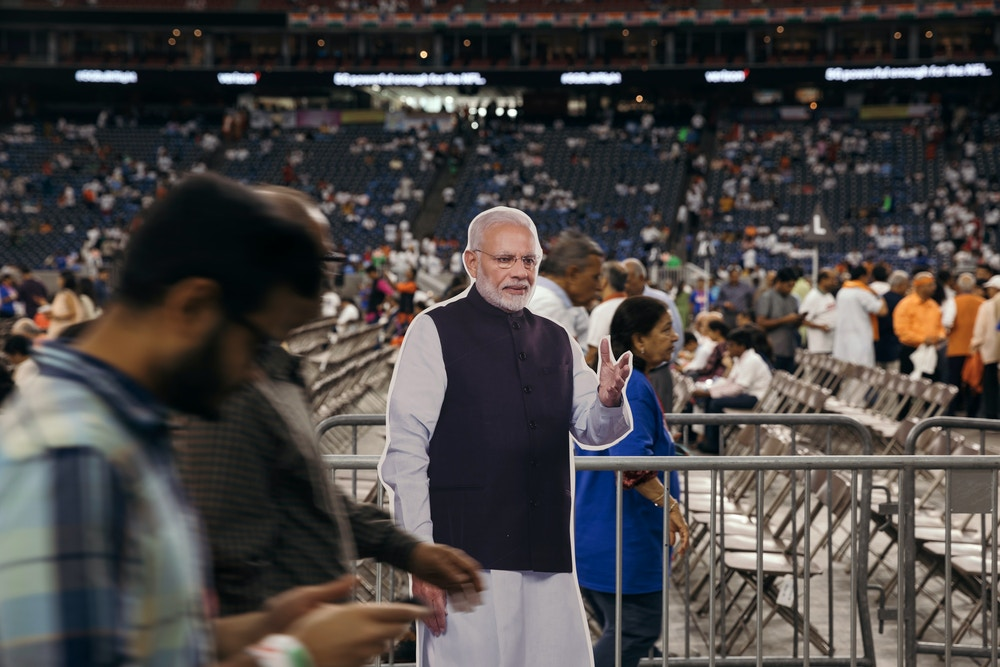 Scenes from the Texas India Forum / Howdy Modi event between Indian Prime Minister, Narendra Modi and US President, Donald Trump, Sunday, September 22nd. 2019 at NRG Stadium in Houston, Texas. Todd Spoth for The Intercept.