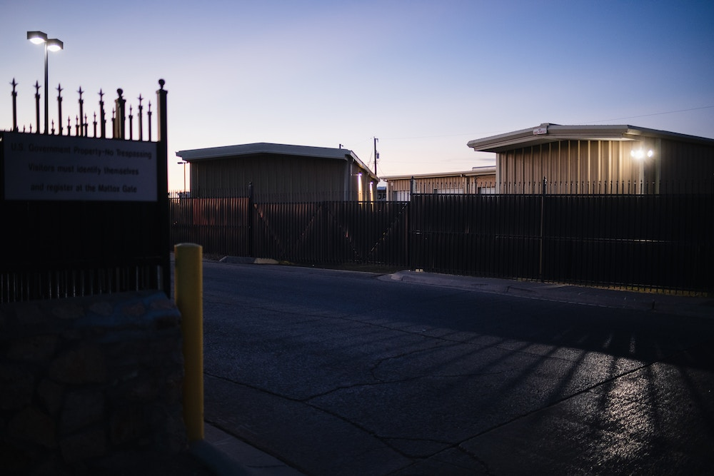 The ICE El Paso Processing Center in El Paso, Texas. October 29, 2020.