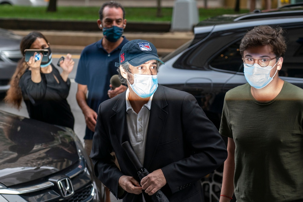 Michael Cohen arrives at his Manhattan apartment in New York City on July 24, 2020.