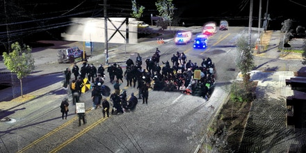An event reconstruction of June 30, 2020, depicts the protester and police interactions along North Lombard Street, Portland, Ore.