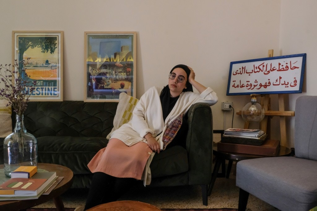 Jude Chehab is Hiba's daughter. She was sitting on that sofa when the explosion happened.