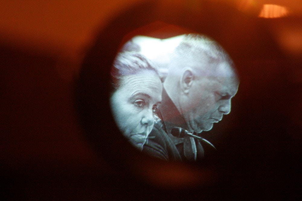 Defense Undersecretary Michele Flournoy, left, and Joint Chiefs Vice Chairman Gen. James Cartwright are photographed through a television camera viewfinder on Capitol Hill in Washington, Thursday, Oct. 1, 2009, while testifying before the House Armed Services Committee hearing on the on the European Missile Defense plan. (AP Photo/Harry Hamburg)