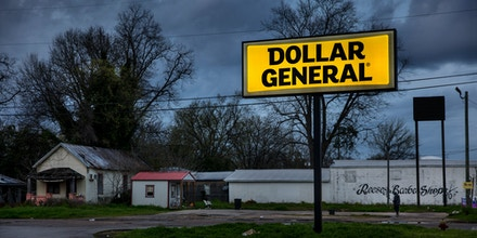 Dollar General Store, main street, on March 3, 2020 in Selma, Alabama.