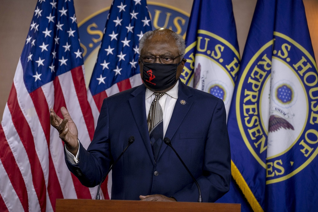 House Majority Whip James Clyburn (D-SC) speaks at a press conference on Capitol Hill as House Democrats mark the anniversary of Shelby County v. Holder on June 26, 2020 in Washington, DC.