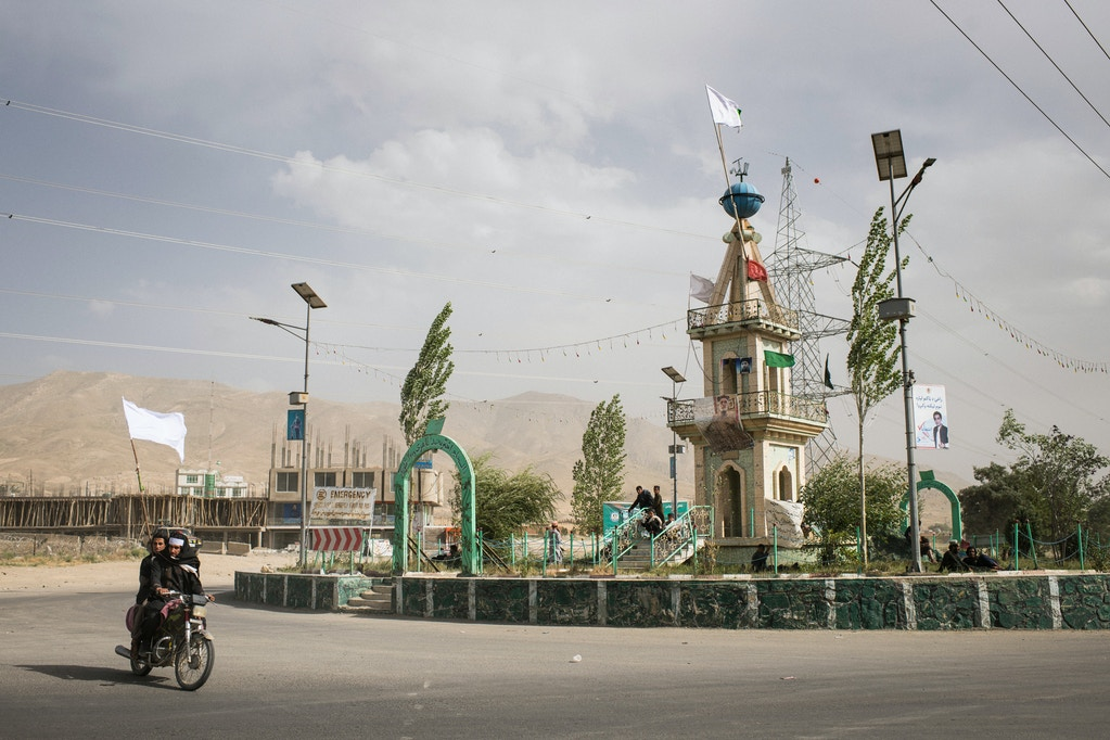 On the third and final day of the first-ever ceasefire between Afghan government and Taliban forces in June 2018, the main traffic roundabout in Wardak's capital Maidan Shahr was topped with a white Taliban flag. The ceasefire saw Afghan security forces and Taliban insurgents crossing into territory under the other group's control and embracing in the streets. Afterward, the war resumed as if it had never stopped.