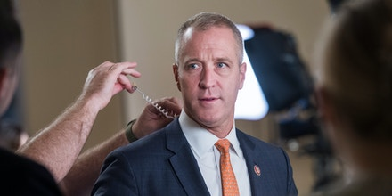 UNITED STATES - SEPTEMBER 27: Rep. Sean Patrick Maloney, D-N.Y., prepares for an interview during the last House votes of the week in the Capitol on Friday, September 27, 2019. (Photo By Tom Williams/CQ-Roll Call, Inc via Getty Images)