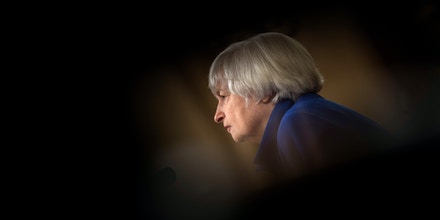 Federal Reserve Chairman Janet Yellen listens during a hearing of the Joint Economic Committee on Capitol Hill on November 29, 2017, in Washington, DC. (Photo by Brendan Smialowski / AFP) (Photo by BRENDAN SMIALOWSKI/AFP via Getty Images)