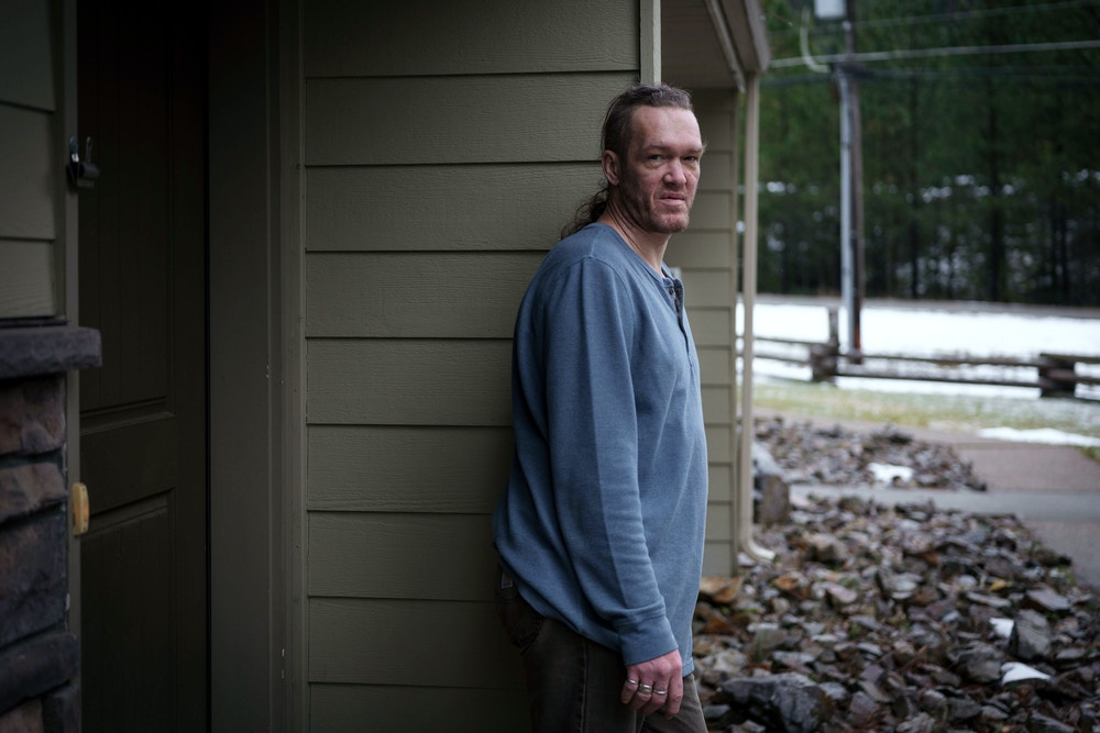 Floyd Kimball, and his four-year-old son Steve, have lived in public housing located on the Bunker Hill Superfund site – or megasite, as the EPA refers to the 1,500 square mile area in the city of Wallace, Idaho, for four years. In 2018 the soil levels were tested at the public housing complex, and the management at the housing site tried to cover up the toxic levels by throwing a pizza party for the residents. Kimball, in turn, had his son's blood lead levels tested, which came back with a reference value of over eight micrograms per deciliter. Kimball's was around six micrograms per deciliter. Kimball believes the lead poisoning has contributed to his son's delay in speech development. Kimball is growing increasingly frustrated that nothing is being done to remediate the areas where the residents live and the children play at his housing complex. Rebecca Stumpf for The Intercept.